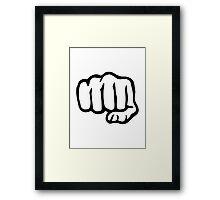 Fist Framed Print