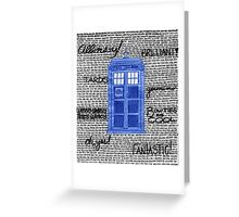 Tardis Doctor Quotes Greeting Card