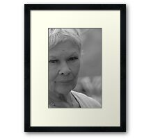Dame Judi Dench number 6 Framed Print