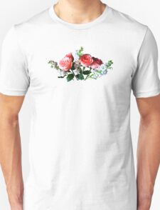 Pink Roses and Snapdragons Unisex T-Shirt