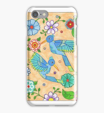 Playful Hummingbirds iPhone Case/Skin