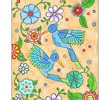 Playful Hummingbirds by Sharon Hall