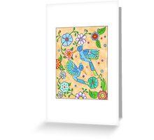 Playful Hummingbirds Greeting Card