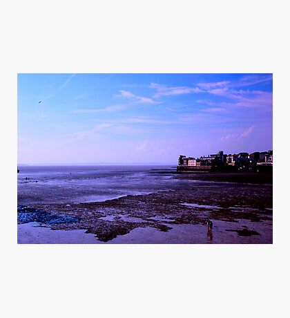Blue hour on the  UK Beach.. Photographic Print