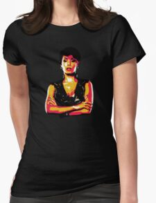 Fish Mooney Womens Fitted T-Shirt