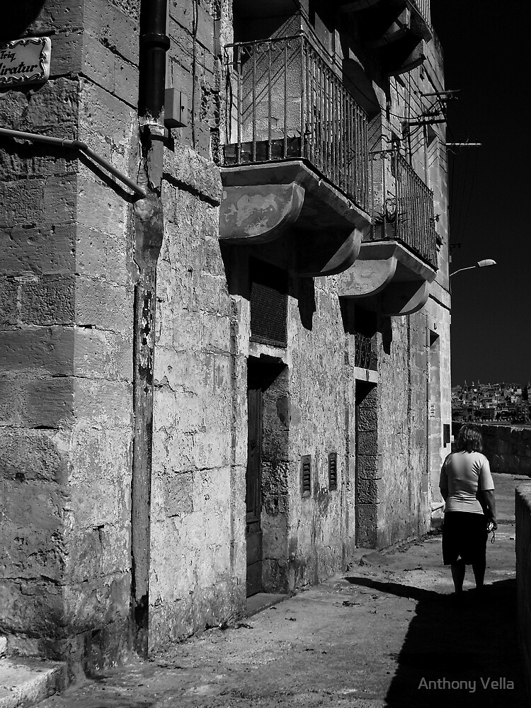 Old Jewish Quarters in Vittoriosa.  by Anthony Vella