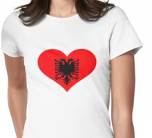 Albania flag heart Womens Fitted T-Shirt