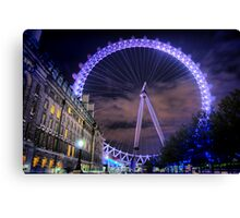 London Eye Hdr Canvas Print