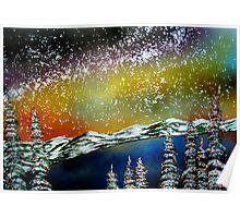 Christmas at Lake Tahoe, California Poster