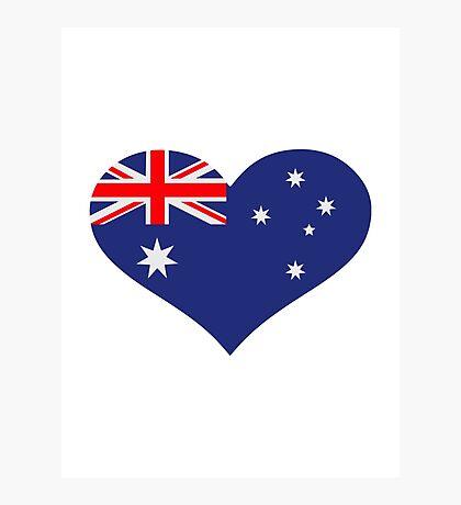 Australia flag heart Photographic Print