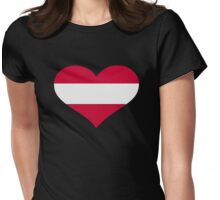 Austria flag heart Womens Fitted T-Shirt