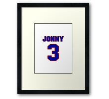 Basketball player Jonny Flynn jersey 3 Framed Print