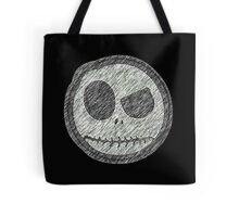 Jack Skellington Skull evil smiley Tote Bag