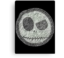 Jack Skellington Skull evil smiley Canvas Print