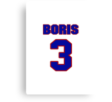 NBAS0440 Basketball player Boris Diaw jersey 3 Canvas Print