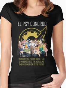 Steins;Gate Psy Congroo Women's Fitted Scoop T-Shirt