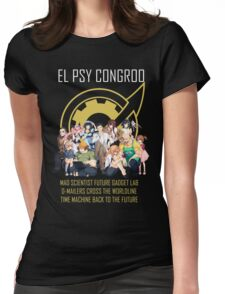 Steins;Gate Psy Congroo Womens Fitted T-Shirt