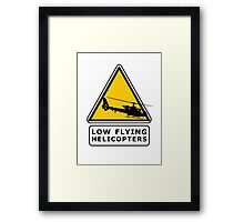 Low Flying Helicopters (1) Framed Print