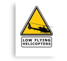 Low Flying Helicopters (1) Canvas Print