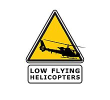 Low Flying Helicopters (1) Photographic Print