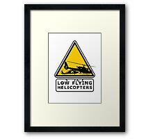 Low Flying Helicopters (2) Framed Print