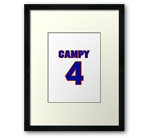 Basketball player Campy Russell jersey 4 Framed Print