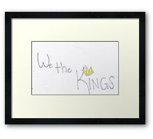 We the Kings -Unofficial Framed Print