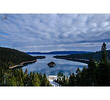 Emerald Bay on a Cloudy Day Photographic Print