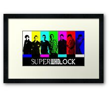 SuperWhoLock TV Color Screen Framed Print