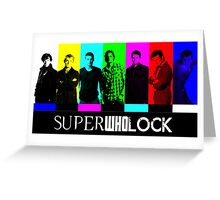 SuperWhoLock TV Color Screen Greeting Card