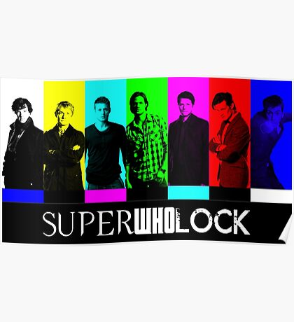 SuperWhoLock TV Color Screen Poster