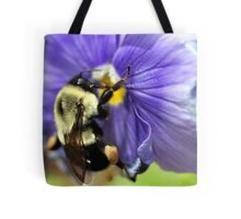 Bumble Bee on Pansy Tote Bag