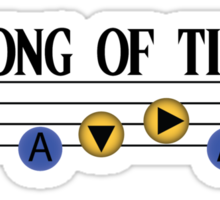 Song of Time- The Legend of Zelda Ocarina of Time Sticker