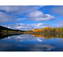 Fall Time on the Snake River/Oxbow Bend GTNP Photographic Print