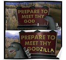 Past Expiry Cartoon : Minor Destruction by Godzilla Poster