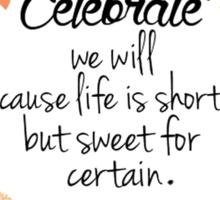 Dave Matthews Band Celebrate Quote Sticker