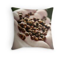 Lady Beetles Throw Pillow