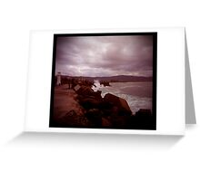 little lighthouse and breakwater Greeting Card