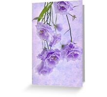 Campanella Blossoms Suspended - Macro Greeting Card