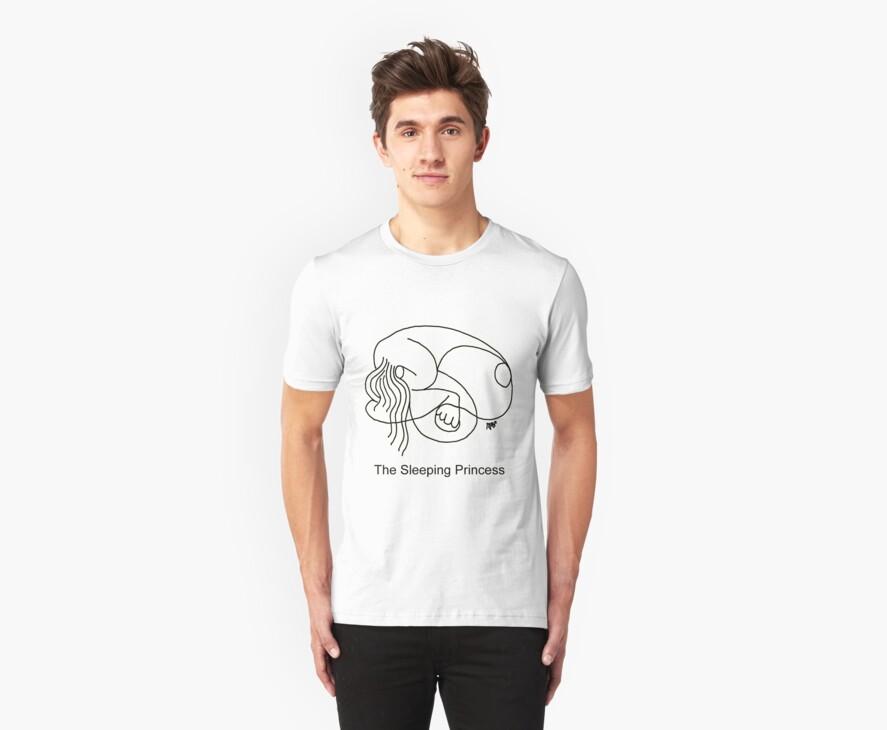 The Sleeping Prncess T-Shirt by mago