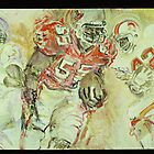 Derrick Brooks, Tampa Bay Bucs by Faith Coddington Krucina