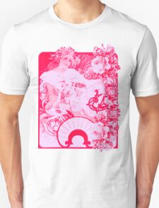 Flowery Victorian Poster with Roses Unisex T-Shirt