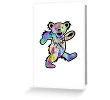 Grateful Dead Dancing Bear Trippy Greeting Card
