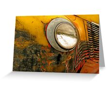 Yellow Truck & Headlight Greeting Card