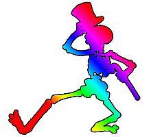 Grateful Dead Dancing Skeleton Photographic Print
