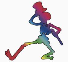 Grateful Dead Dancing Skeleton by Jason Levin