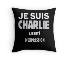 Je Suis Charlie - Stand up to Terrorism Throw Pillow