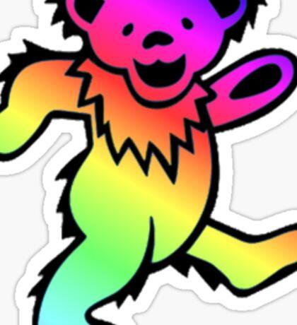 Grateful Dead Dancing Bear Rainbow Sticker
