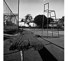 The Tennis Bench Photographic Print