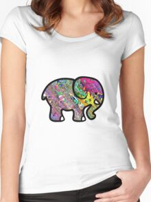 Trippy Elephant Women's Fitted Scoop T-Shirt